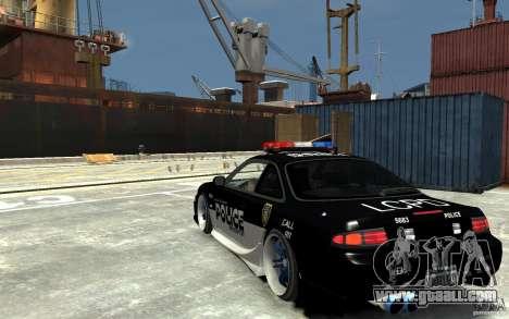 Nissan 200SX Police v0.2 for GTA 4 back left view
