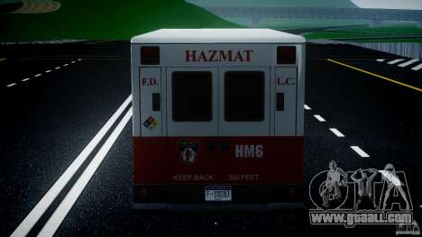 LCFD Hazmat Truck v1.3 for GTA 4 interior