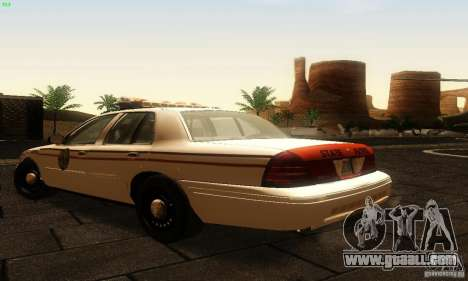Ford Crown Victoria North Dakota Police for GTA San Andreas left view