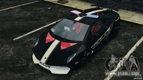 Lamborghini Sesto Elemento 2011 Police v1.0 RIV for GTA 4 wheels