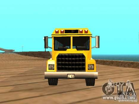 School bus for GTA San Andreas right view