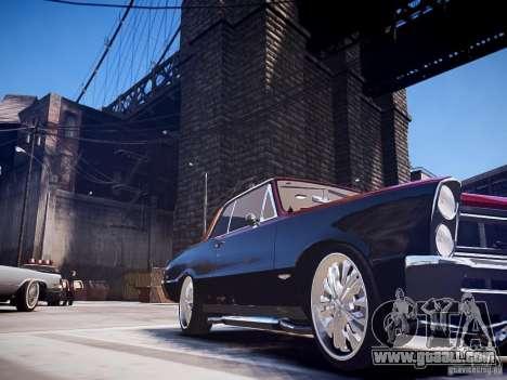 Pontiac GTO 1965 Custom discks pack 1 for GTA 4 back left view