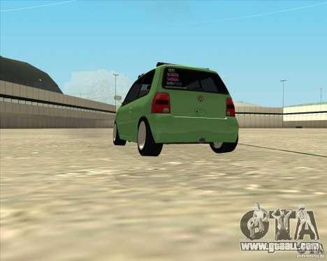 Volkswagen Lupo Hellaflush for GTA San Andreas back left view