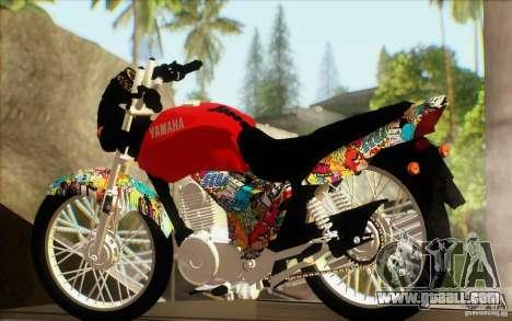 Yamaha YBR for GTA San Andreas left view