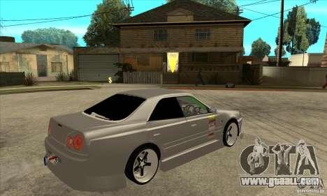 Nissan Skyline Er34 Street Drift for GTA San Andreas right view