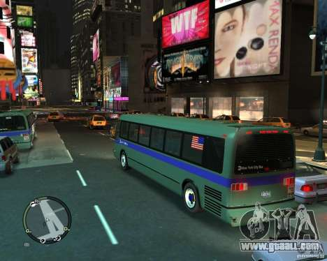 MTA NYC bus for GTA 4 left view
