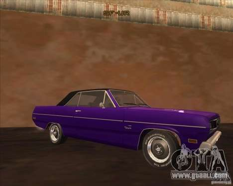 1971 Plymouth Scamp for GTA San Andreas back left view