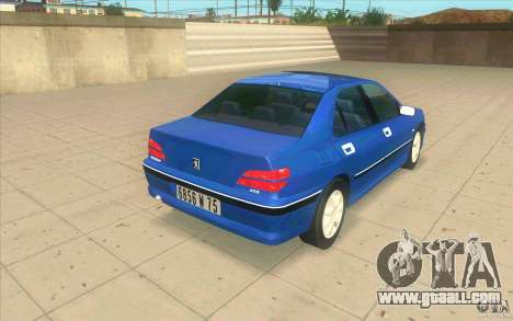Peugeot 406 1.9 HDi for GTA San Andreas back left view