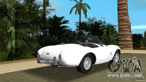 AC Cobra 289 for GTA Vice City back left view