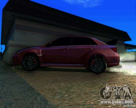 Subaru Impreza WRX STi 2011 for GTA San Andreas back left view