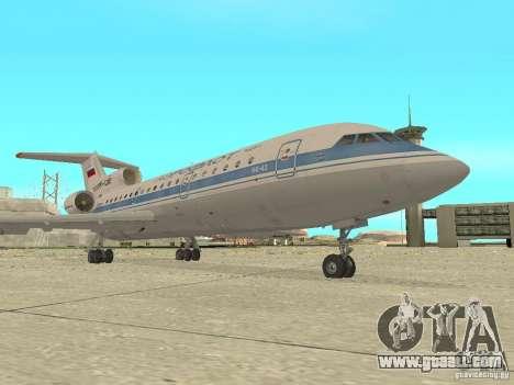 Yak-42 Aeroflot for GTA San Andreas left view