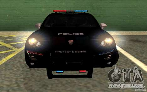 Porsche Cayenne Turbo 958 Seacrest Police for GTA San Andreas back left view