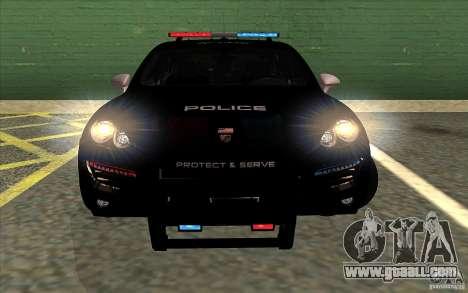 Porsche Cayenne Turbo 958 Seacrest Police for GTA San Andreas back left view