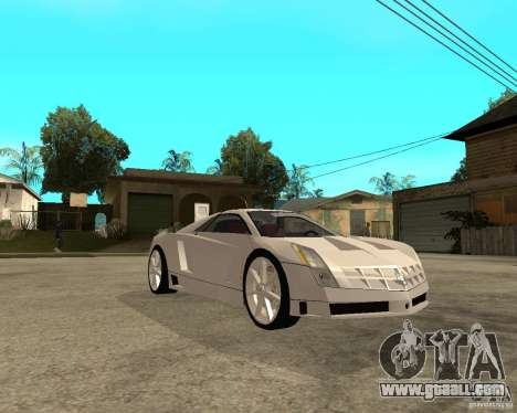 Cadillac Cien for GTA San Andreas right view