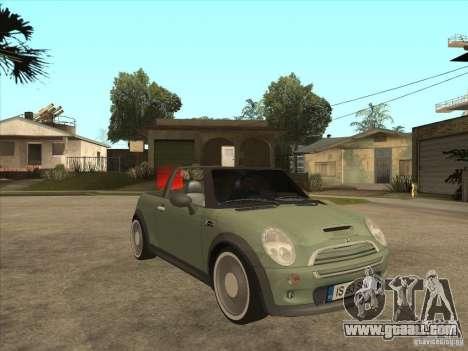 Mini Cooper S Cabrio for GTA San Andreas inner view