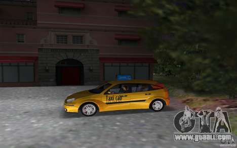 Ford Focus TAXI cab for GTA Vice City left view