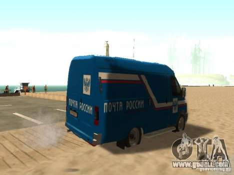 Gazelle 2705 mail of Russia for GTA San Andreas back left view
