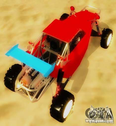 Buggy V8 4x4 for GTA San Andreas back left view
