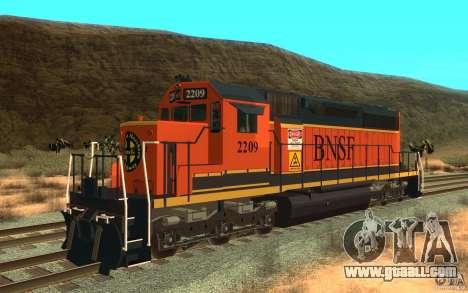 Locomotive SD 40 Union Pacific BNSF for GTA San Andreas