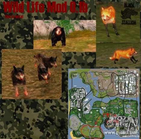 Wild Life Mod 0.1 (b) Wildlife for GTA San Andreas