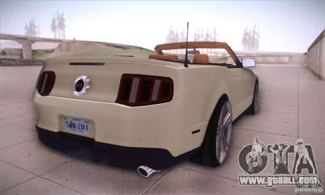 Ford Mustang 2011 Convertible for GTA San Andreas right view