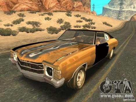 Chevrolet Chevelle Rustelle for GTA San Andreas inner view