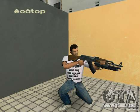 AK-47 with Underbarrel Shotgun for GTA Vice City fifth screenshot