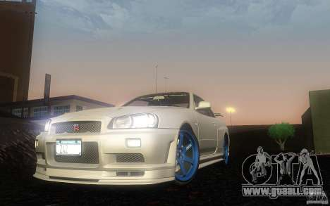 Nissan Skyline GT-R R34 M-spec Nur for GTA San Andreas left view