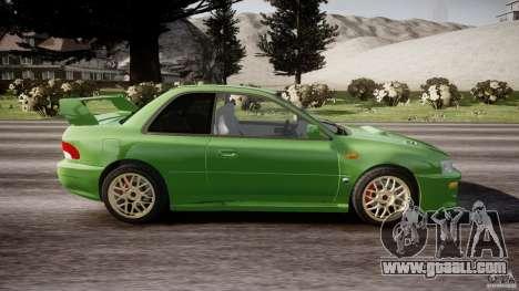Subaru Impreza 22b 1998 (final) for GTA 4 inner view