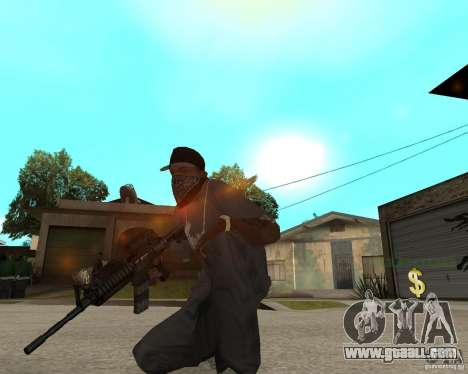 Very high-quality M16 for GTA San Andreas third screenshot
