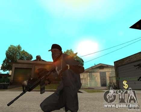Very high-quality M16 for GTA San Andreas third screenshot