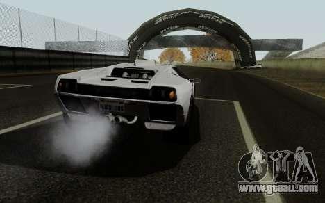 Lamborghini Diablo GTR TT Black Revel for GTA San Andreas back left view