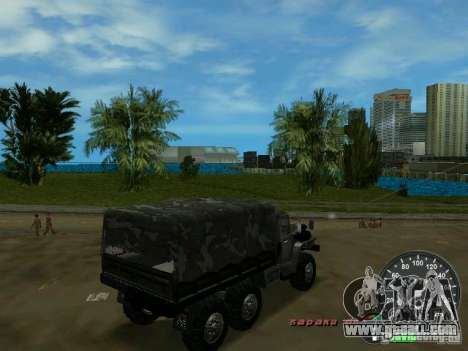 Ural 4320 Military for GTA Vice City back view