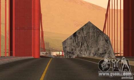 Destroyed bridge in San Fierro for GTA San Andreas third screenshot