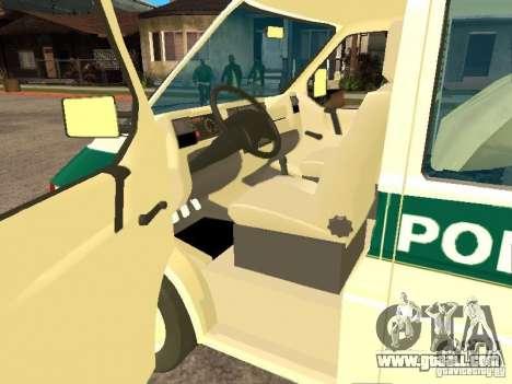 Volkswagen Transporter T4 Bosnian police for GTA San Andreas left view