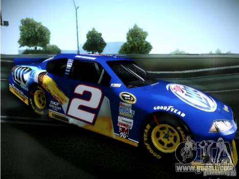 Dodge Charger Nascar 2012 for GTA San Andreas back left view