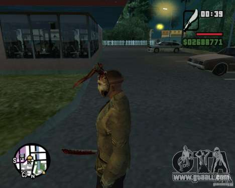 Jason Voorhees for GTA San Andreas third screenshot