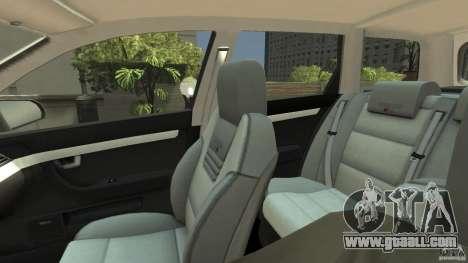 Audi A4 Avant beta for GTA 4 inner view