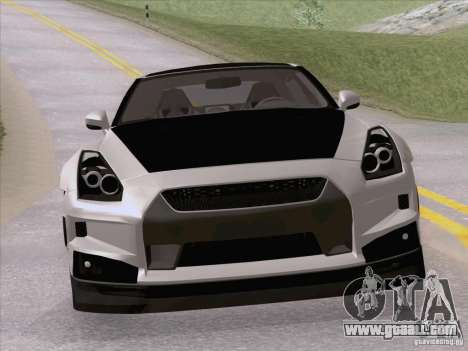 Nissan GTR Edited for GTA San Andreas right view