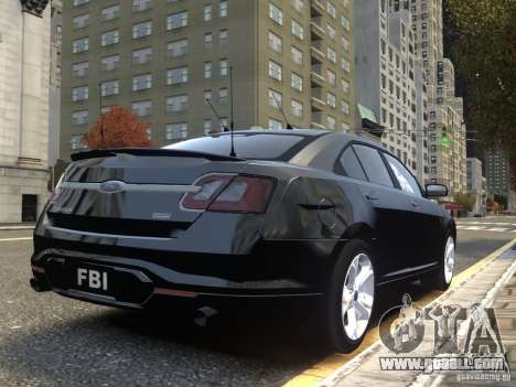 Ford Taurus FBI 2012 for GTA 4 back view