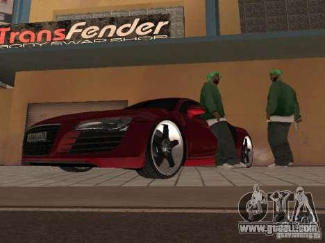 Audi R8 for GTA San Andreas back left view