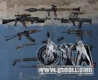 Pak arms from s. t. a. l. k. e. R for GTA San Andreas