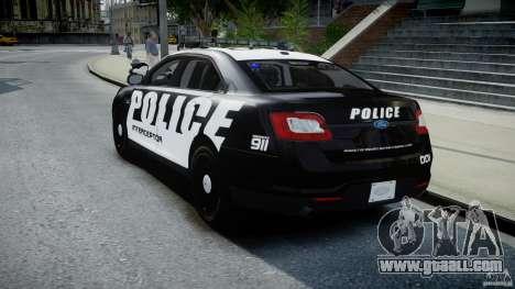 Ford Taurus Police Interceptor 2011 [ELS] for GTA 4 back left view