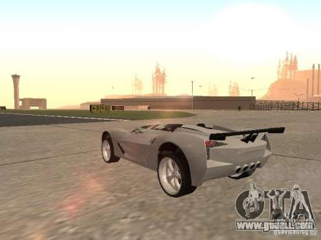 Chevrolet Corvette C7 Spyder for GTA San Andreas right view