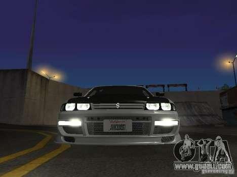 Nissan Skyline R33 SGM for GTA San Andreas inner view