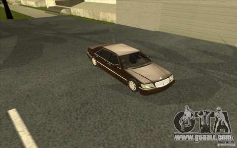 Mercedes-Benz S600 for GTA San Andreas upper view