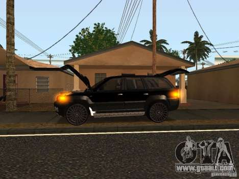 Jeep Grand Cherokee Black for GTA San Andreas back left view