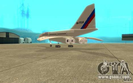 Tu-144 for GTA San Andreas right view