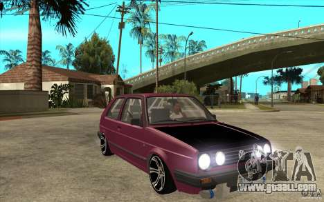 VW Golf 2 GTI for GTA San Andreas back view