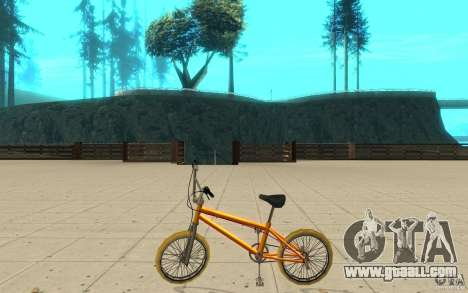 Zeros BMX YELLOW tires for GTA San Andreas left view